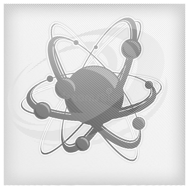 De achtergrond van het atoom in grijze strook stock illustratie