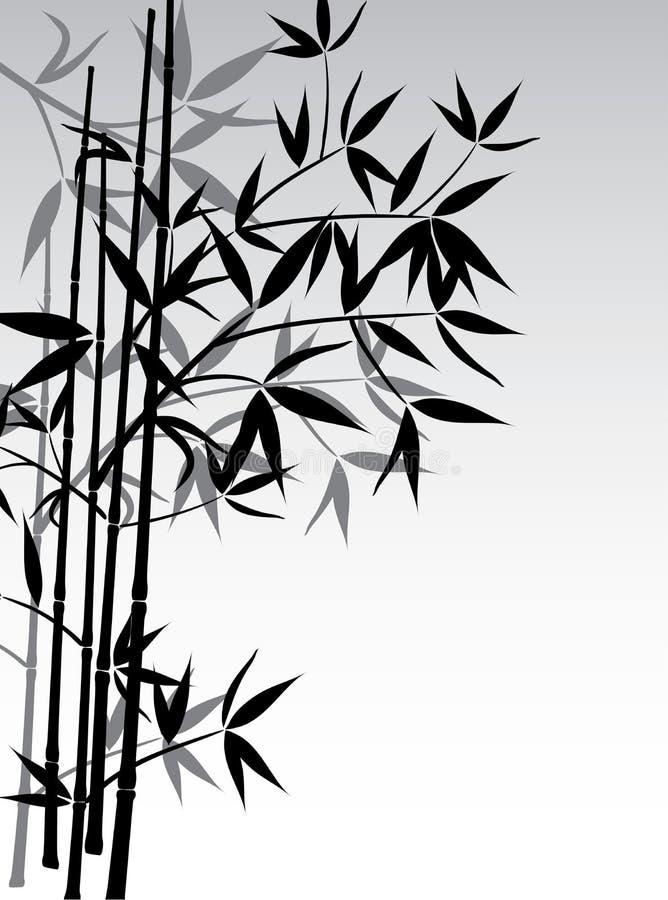 De achtergrond van het bamboe, vector vector illustratie