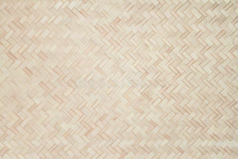 De achtergrond van het bamboeweefsel, van het de stijlpatroon van de bamboe houten textuur traditionele Thaise de aardachtergrond royalty-vrije stock afbeeldingen