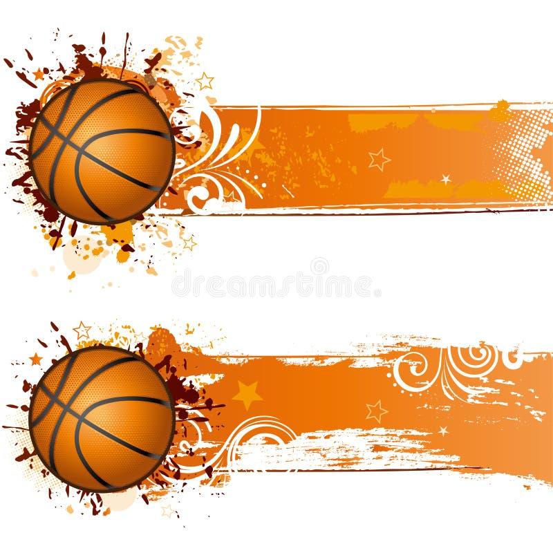 De achtergrond van het basketbal stock illustratie