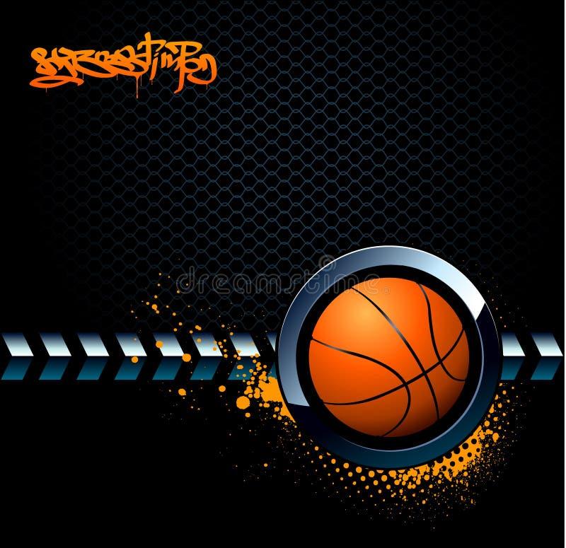 De achtergrond van het basketbal grunge stock illustratie