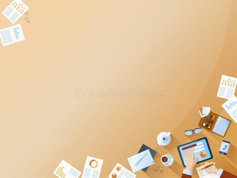 De achtergrond van het bedrijfsanalyseproces royalty-vrije illustratie