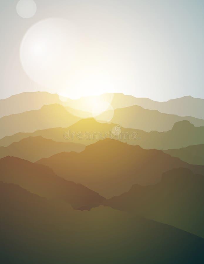 De achtergrond van het berglandschap royalty-vrije illustratie