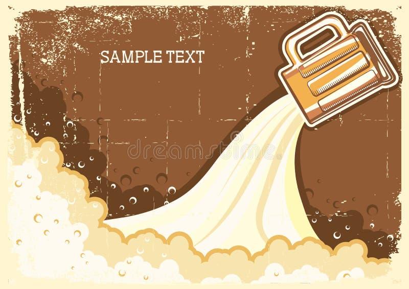De achtergrond van het bier. vector illustratie