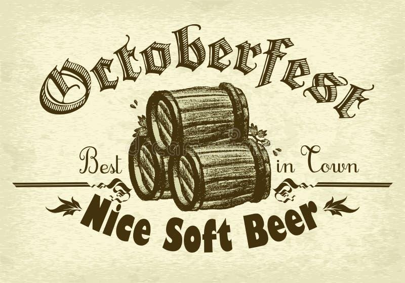 De achtergrond van het bier vector illustratie
