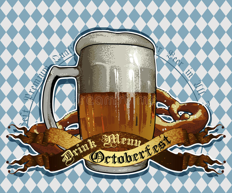De achtergrond van het bier royalty-vrije illustratie