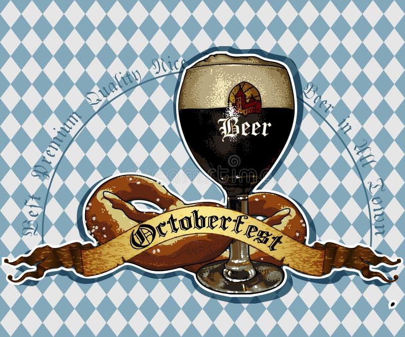 De achtergrond van het bier stock illustratie