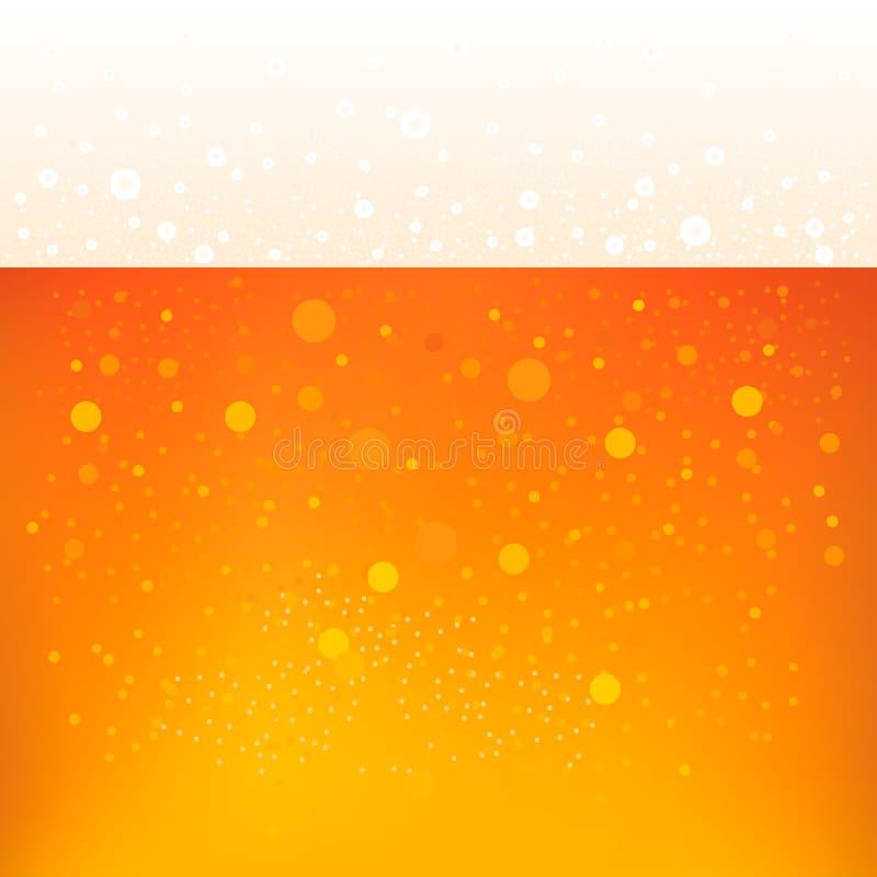 De achtergrond van het bier Smakelijk bier met schuim en bellenmalplaatje voor de bar royalty-vrije illustratie