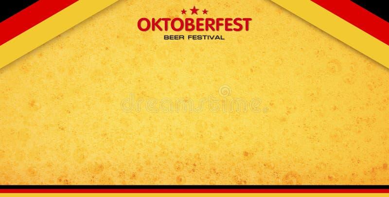 De achtergrond van het bierfestival royalty-vrije illustratie