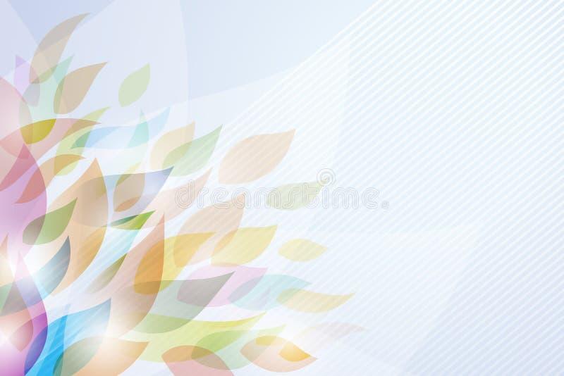 De Achtergrond van het blad vector illustratie