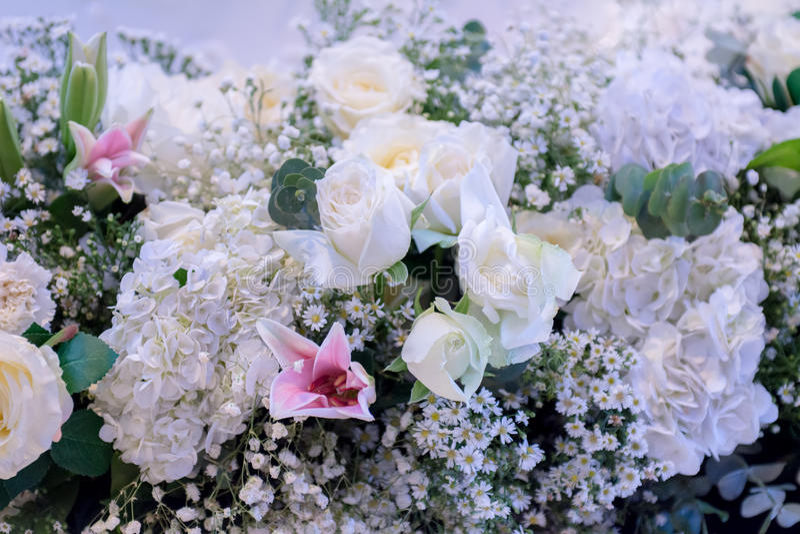 De achtergrond van het bloemboeket stock foto