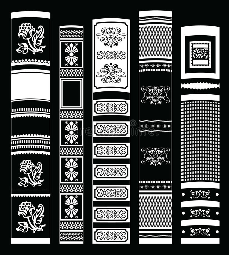 De achtergrond van het boek stock illustratie