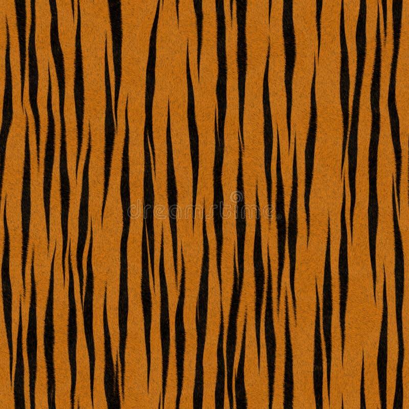 De Achtergrond van het Bont van Faux van het Patroon van de Streep van de tijger royalty-vrije illustratie