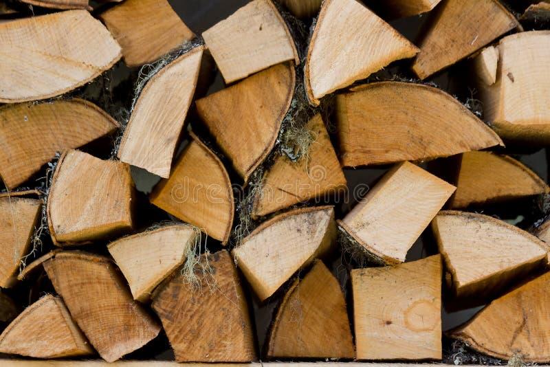 De achtergrond van het brandhout. stock afbeelding