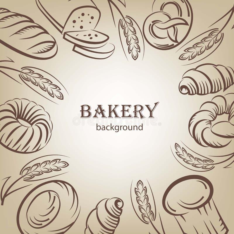 De achtergrond van het brood stock illustratie