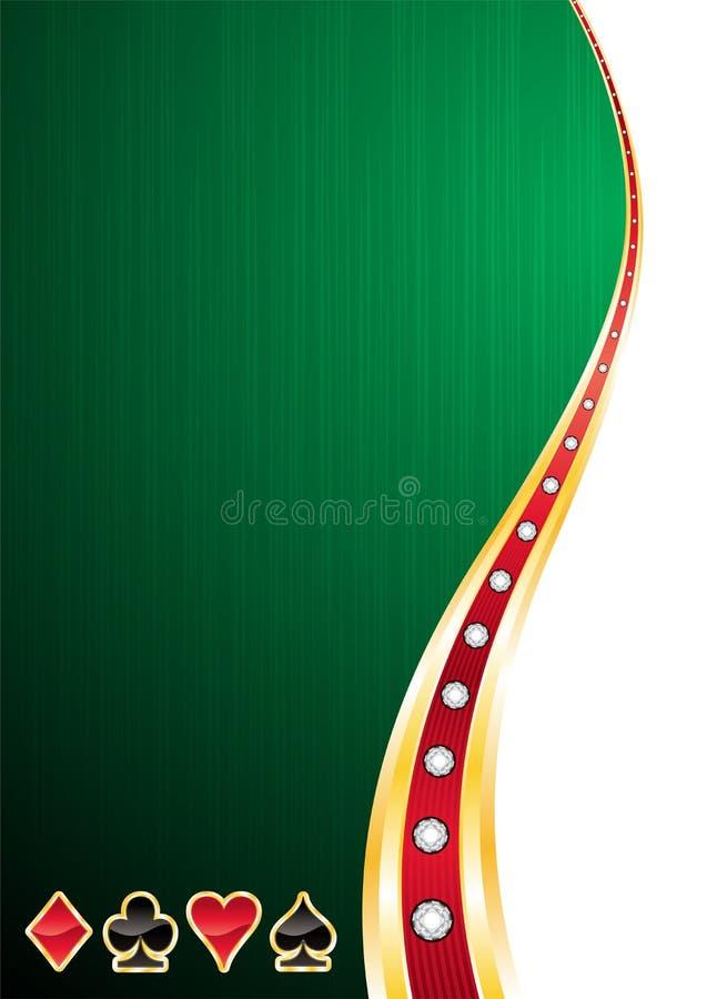 De achtergrond van het casino vector illustratie