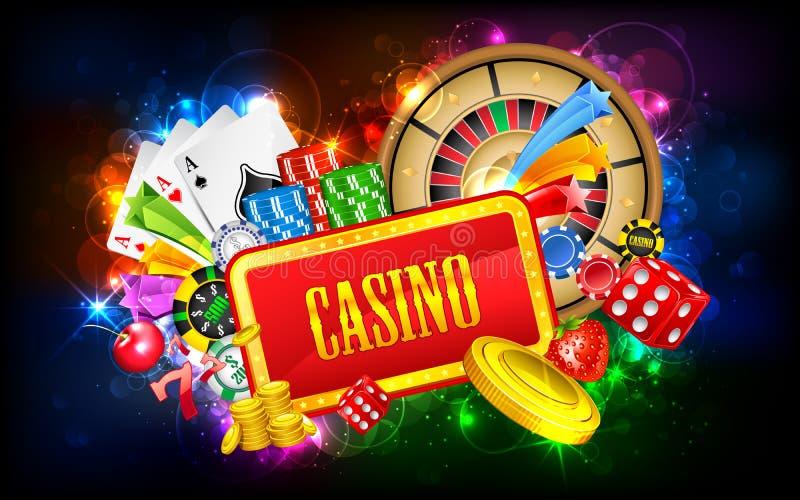 De Achtergrond van het casino royalty-vrije illustratie