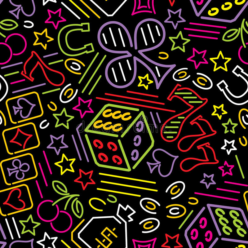 De achtergrond van het casinoneon vector illustratie