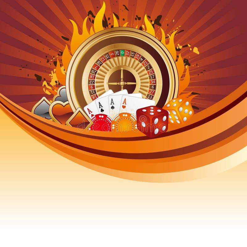 de achtergrond van het casinoontwerp stock illustratie