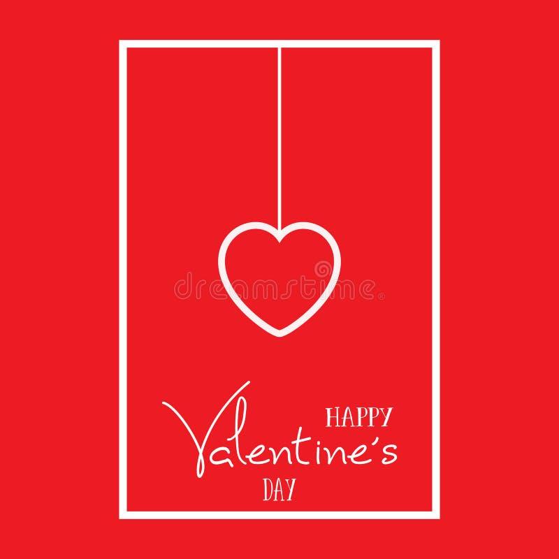 De achtergrond van het de Daghart van Valentine ` s stock illustratie
