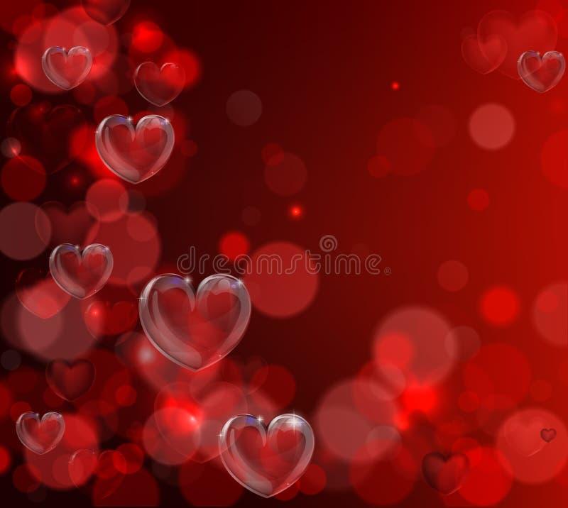 De achtergrond van het de daghart van valentijnskaarten royalty-vrije illustratie