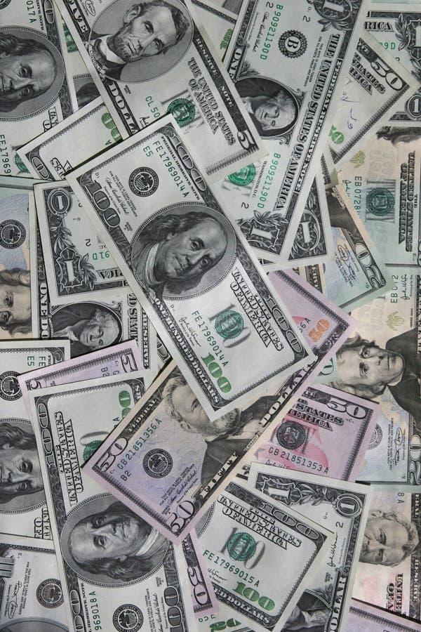 De achtergrond van het de rekeningengeld van de dollar stock afbeeldingen