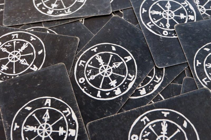 De achtergrond van het de textuurbehang van de tarotkaart stock fotografie