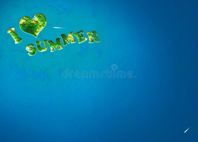 De achtergrond van het de zomereiland royalty-vrije illustratie