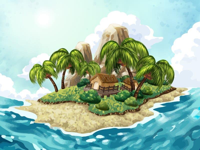 De achtergrond van het de zomereiland stock illustratie