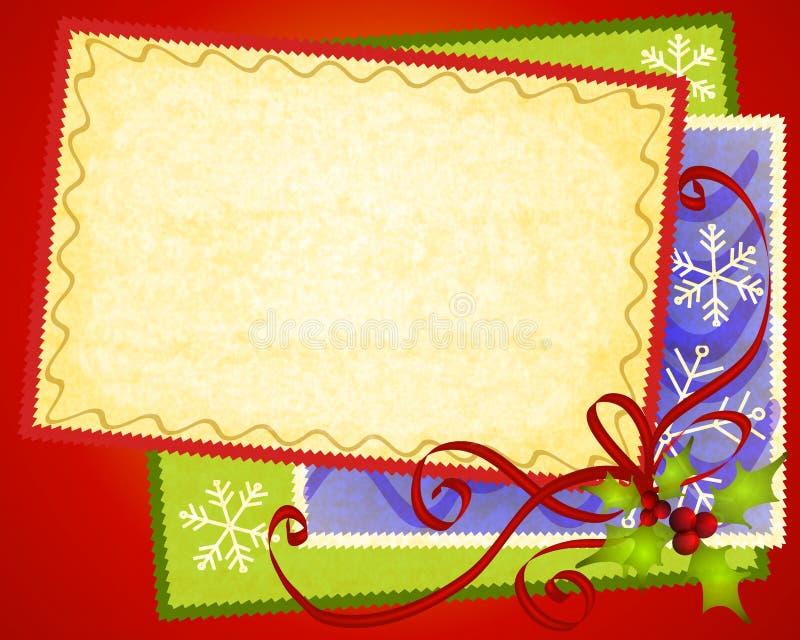 De Achtergrond van het Document van de Kaarten van Kerstmis stock illustratie