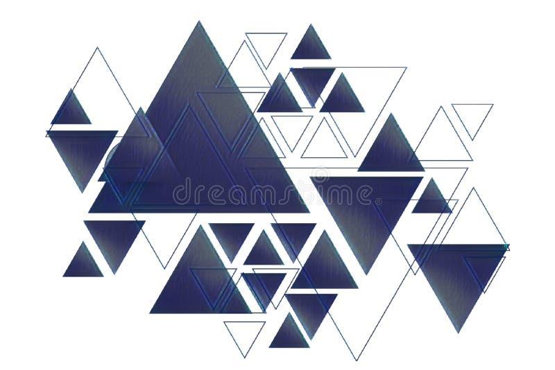 De achtergrond van het driehoeksontwerp royalty-vrije stock afbeelding