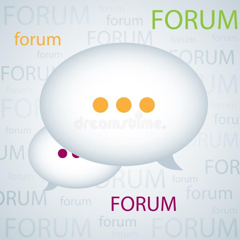 De achtergrond van het forum stock illustratie
