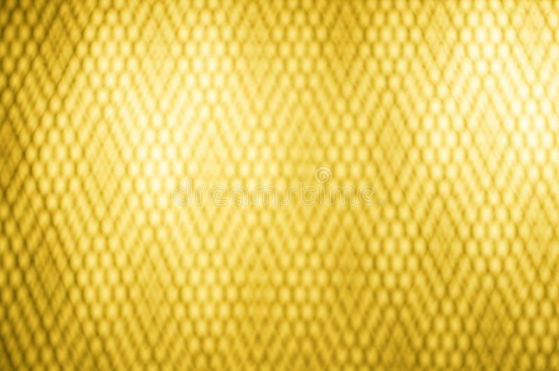 De achtergrond van het fotobeeld goud met lijn grafische heldere kleur vage samenvatting met lichte achtergrond Gouden of gele kl stock illustratie