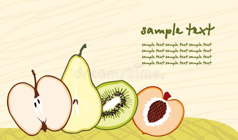 Download De Achtergrond Van Het Fruit Vector Illustratie - Illustratie bestaande uit sappig, citroen: 10775318