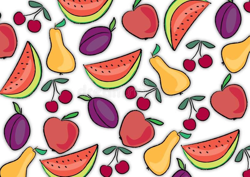 De achtergrond van het fruit vector illustratie