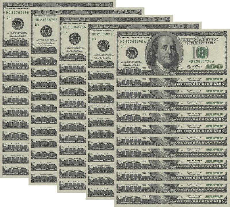 De achtergrond van het geld stock afbeelding
