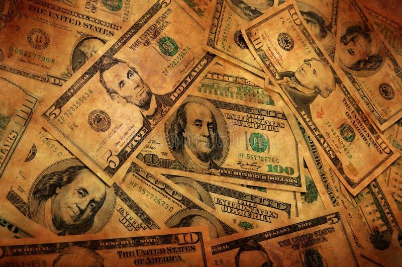 De Achtergrond van het Geld van Grunge royalty-vrije stock afbeelding