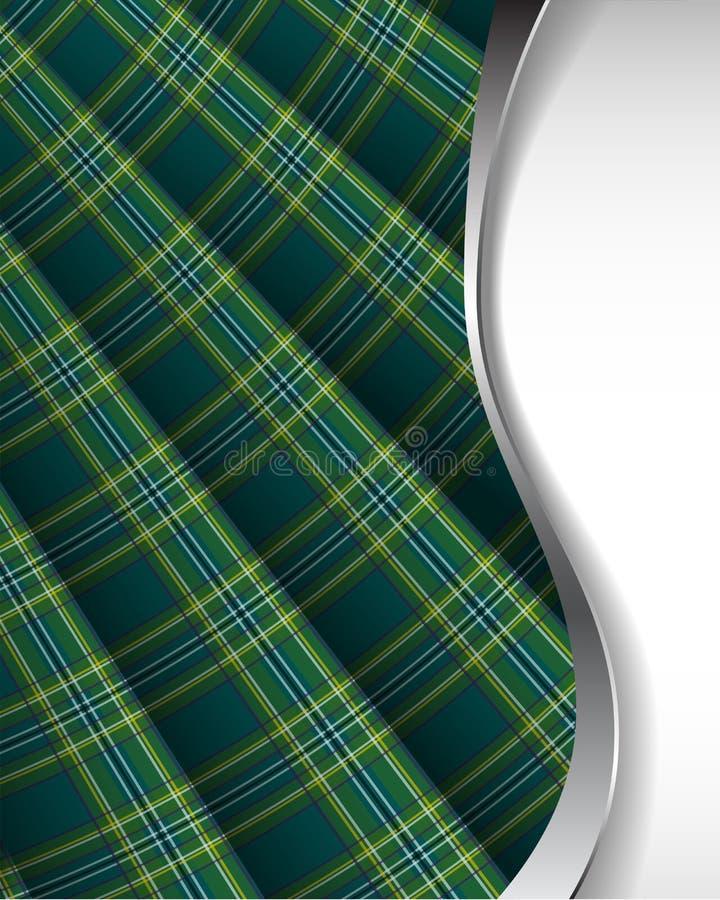 De achtergrond van het geruite Schotse wollen stof vector illustratie