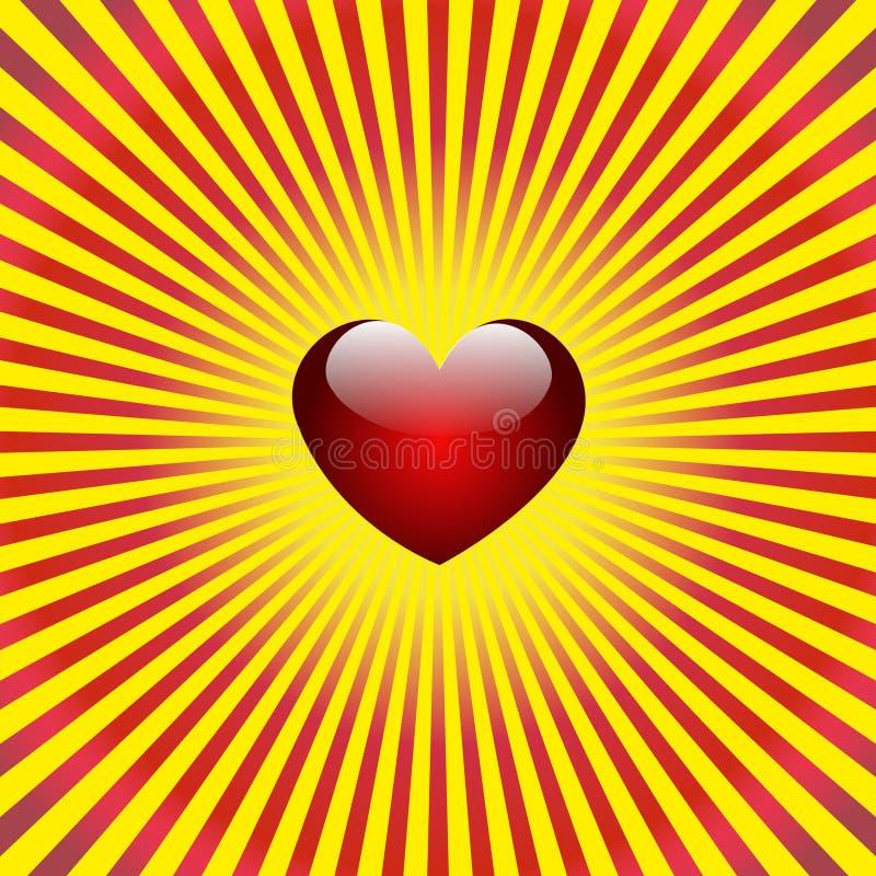 De achtergrond van het hart royalty-vrije illustratie