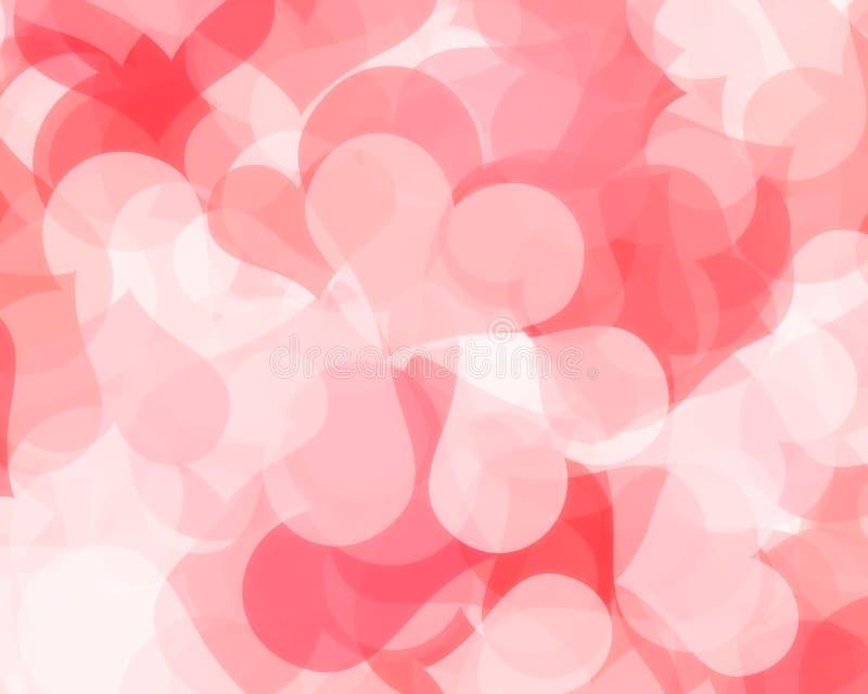 De Achtergrond van het hart stock illustratie