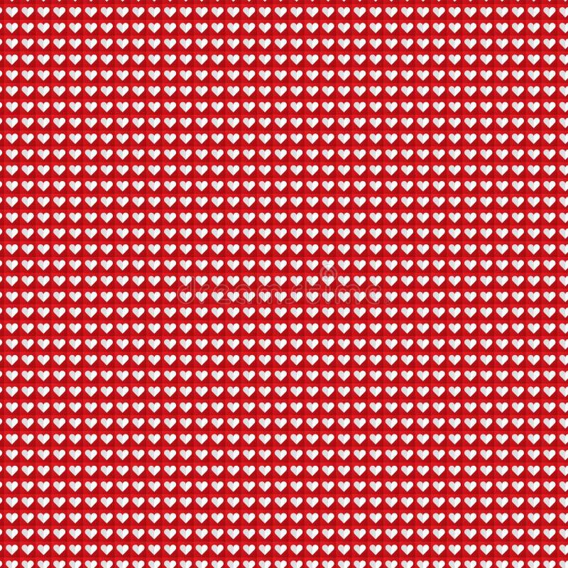De achtergrond van het hartpatroon stock afbeelding