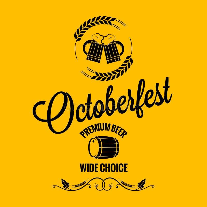 De achtergrond van het het bierontwerp van oktober fest vector illustratie