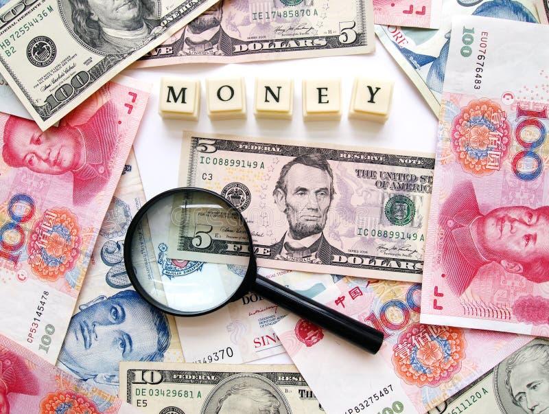 De achtergrond van het het contante geldconcept van het geld stock fotografie