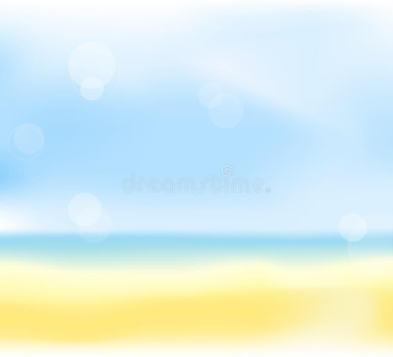 De achtergrond van het het strandonduidelijke beeld van de zomer vector illustratie
