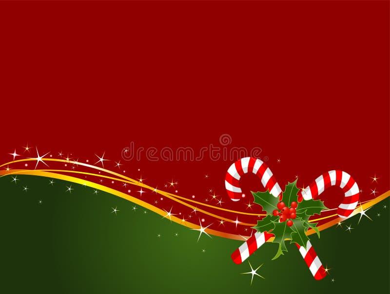 De achtergrond van het het suikergoedriet van Kerstmis vector illustratie