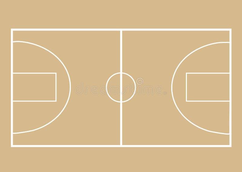 De Achtergrond van het Hof van het basketbal royalty-vrije illustratie