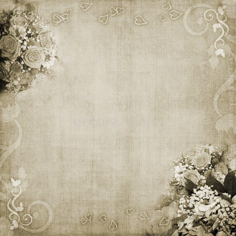 De achtergrond van het huwelijk, van de vakantie of van de verjaardag vector illustratie
