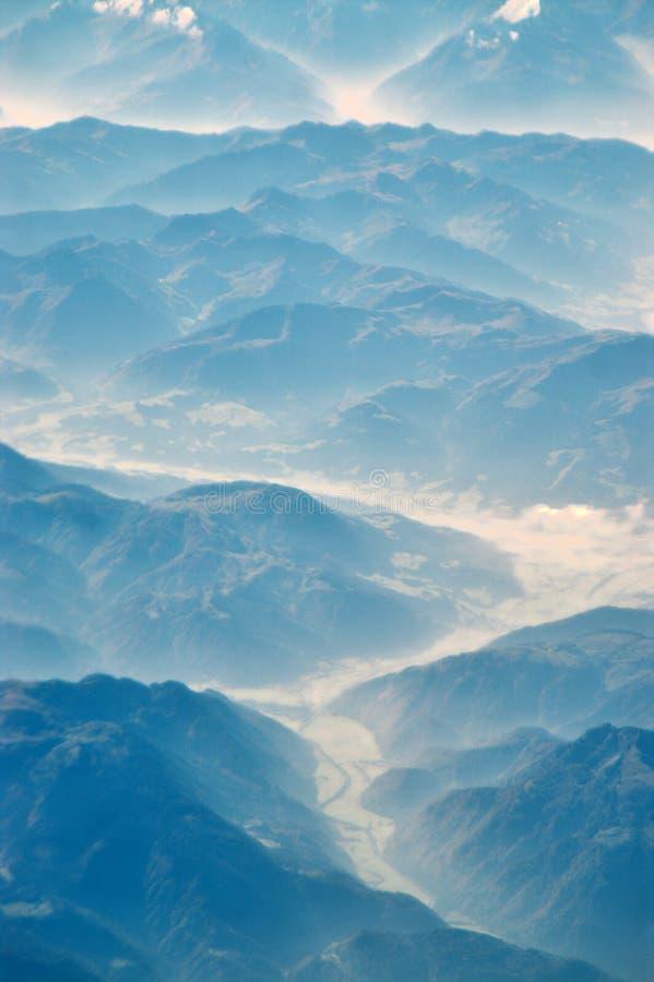 De achtergrond van het ijs vally stock foto