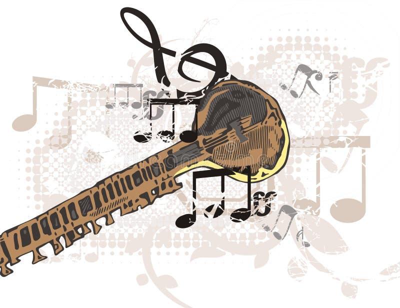 De Achtergrond van het Instrument van de muziek stock illustratie