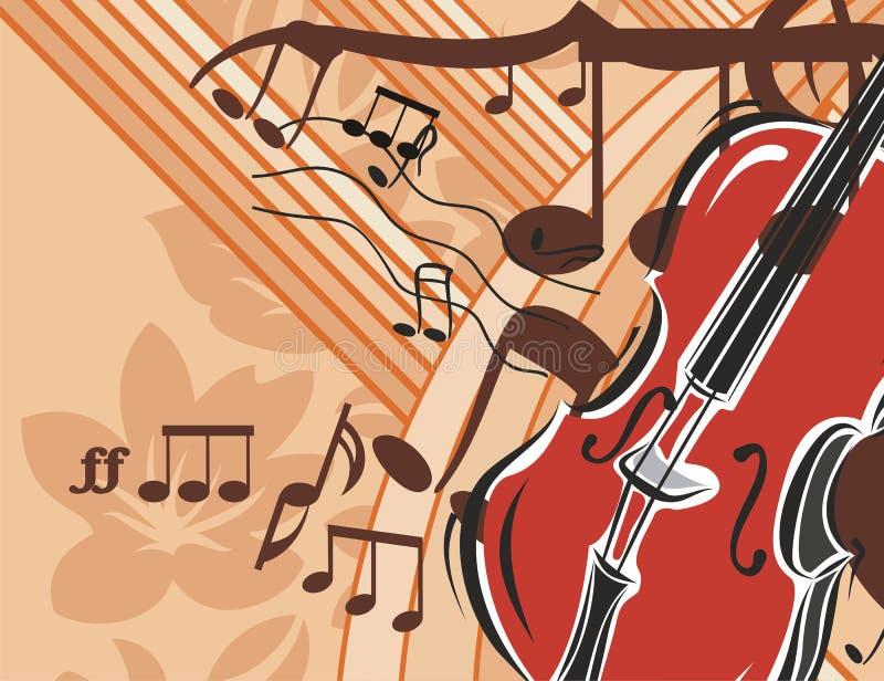 De Achtergrond van het Instrument van de muziek royalty-vrije illustratie